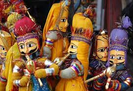 A puppet show in the Winter Festival at Mt. Abu in Rajasthan.