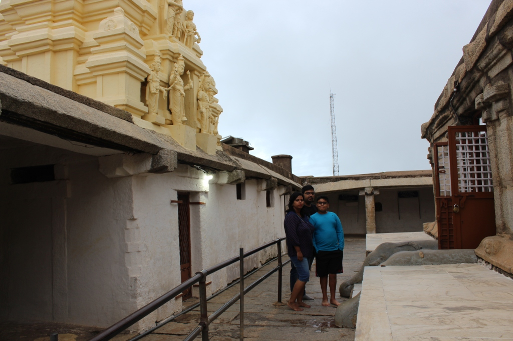 The Shiv temple at Nandi Hills.