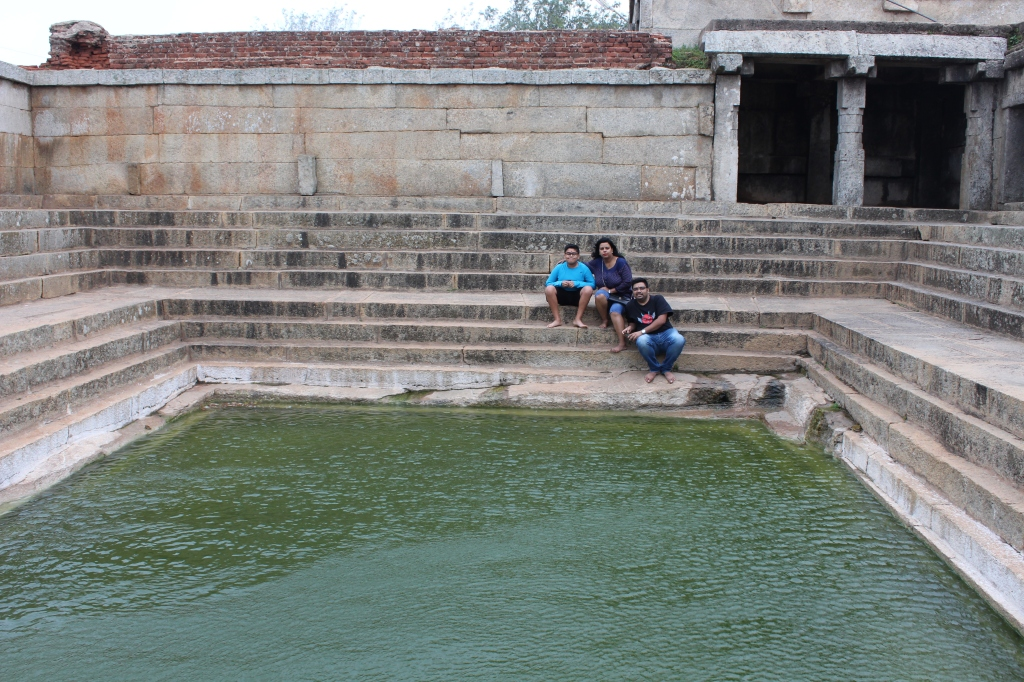 The sacred pond in the temple ayt Nandi Hills.
