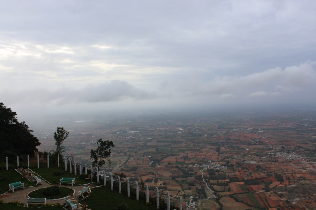 A bird's eye view from Nandi Hills.