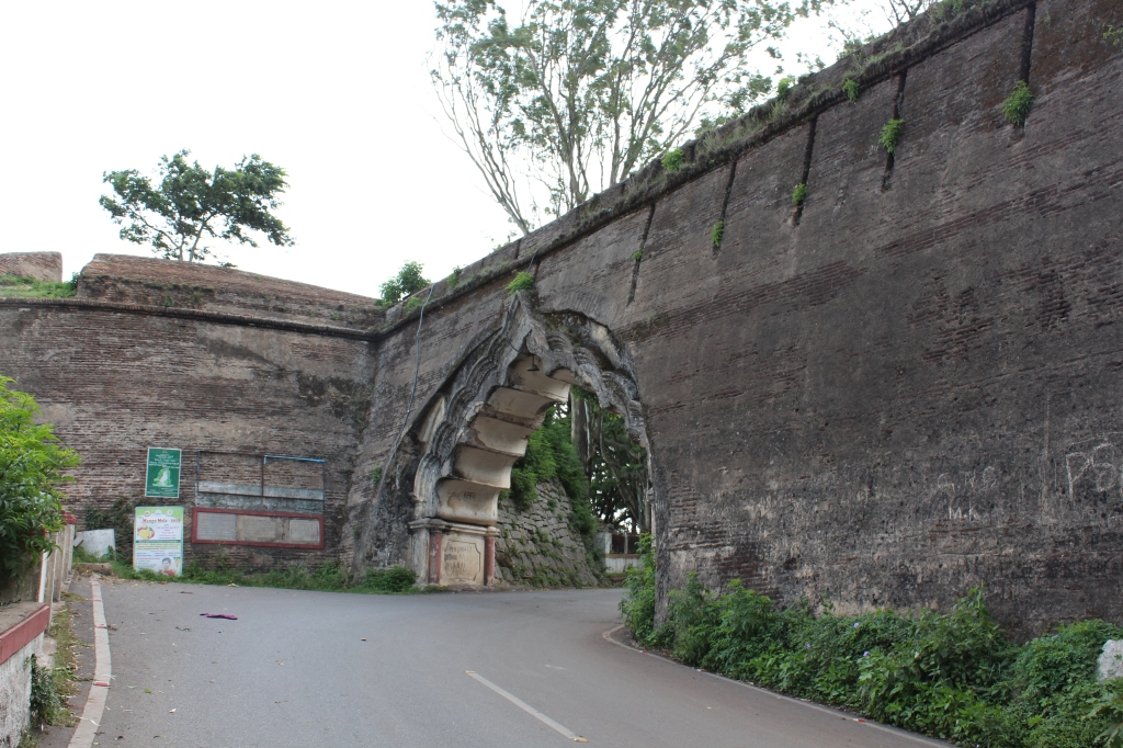 The outer wall of the fort of Tipu Sultan, on the way to Nandi Hills.