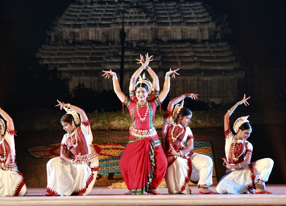 A beautiful picture of dance performance at Konark Dance Festival, Odisha